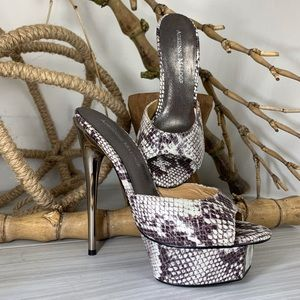 New Adrienne Maloof Platform Sandal Heels